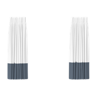 Modern double curtain